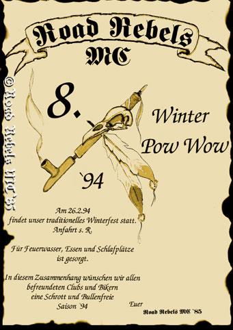 8. Winterparty 1994 in Zolling – Winter Pow Wow